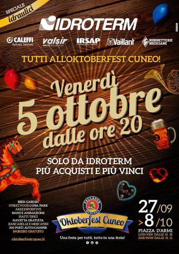 Idroterm ti porta all'Oktoberfest Cuneo 2018