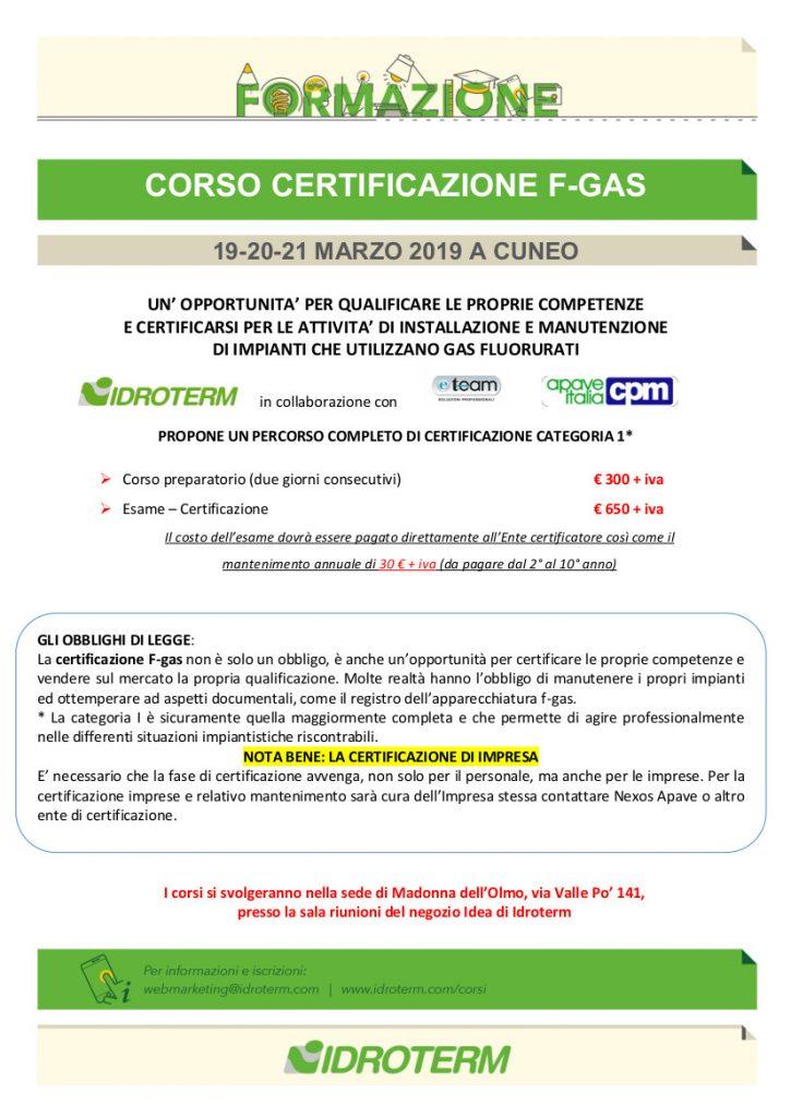 Corso Certificazione F-gas – Ultimi posti disponibili!