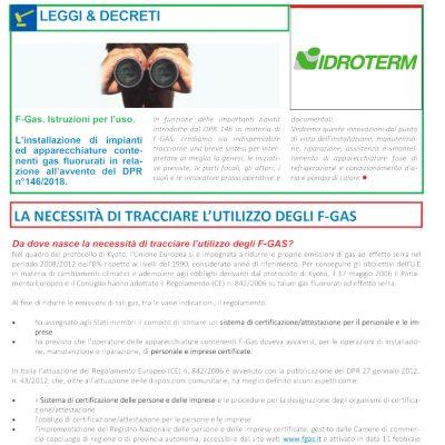 Decreto F-Gas: istruzioni per l'uso