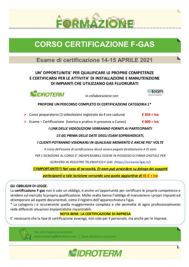 CORSO F-GAS APRILE 2021